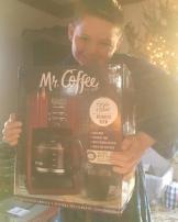 Christmas morning coffee pot